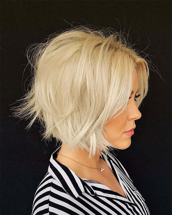 short and blonde