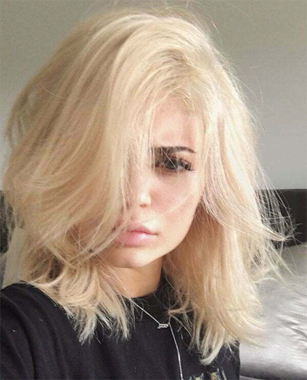 short and blonde hair