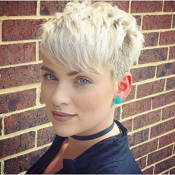 short blond hair cut
