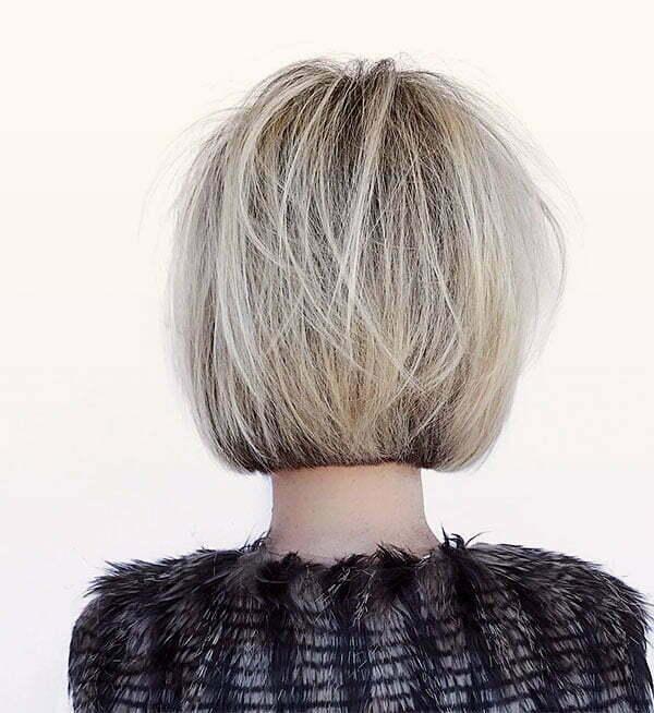 short blond hair woman
