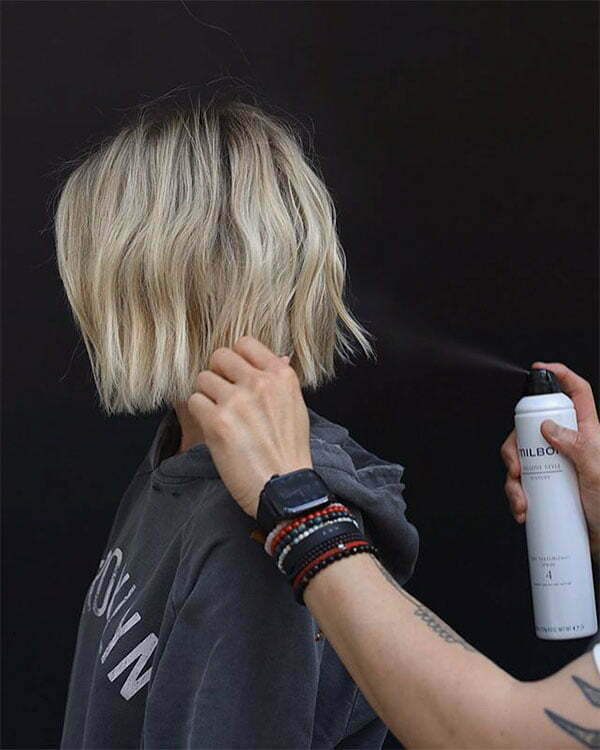 short blonde hair female