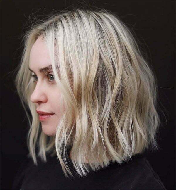 short blonde hair style