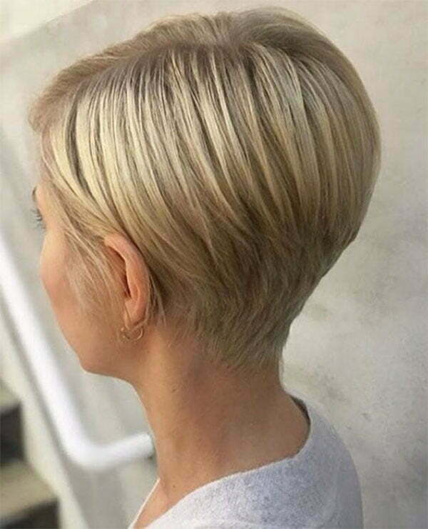 short blonde woman