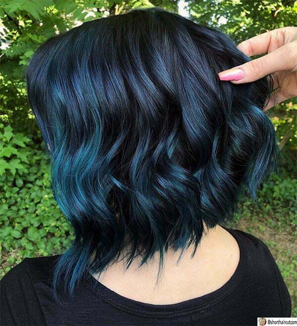 short blue hair styles