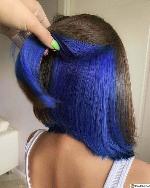 short blue hairstyles