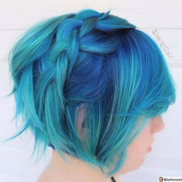 short blue styles