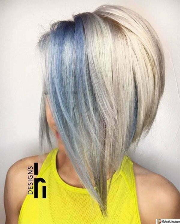 short blue woman