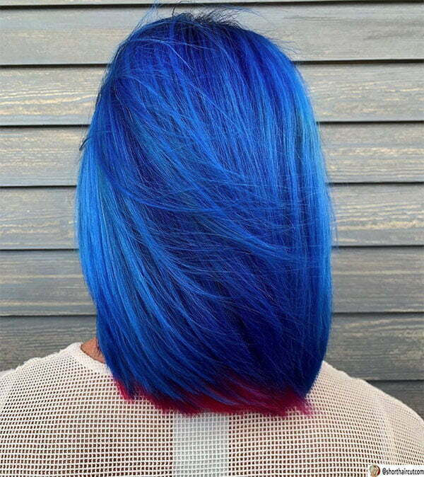short blue womens hairstyles