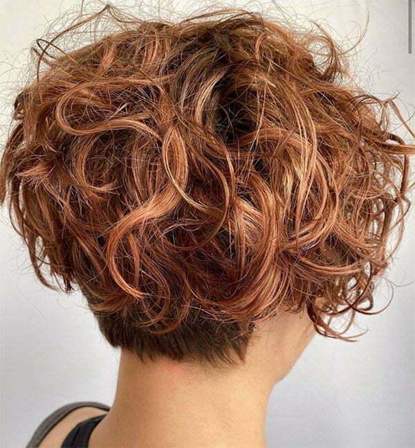 short curly female hair