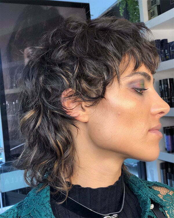 short curly female haircuts