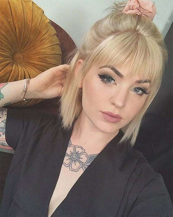 short cut blonde hairstyles