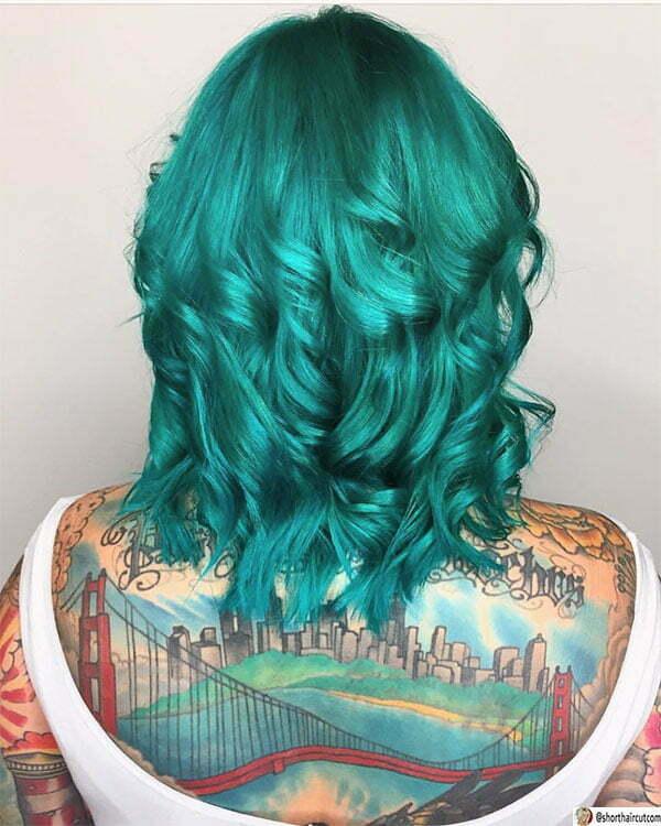 short cut green hairstyles