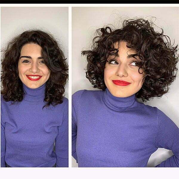 short female curly haircuts
