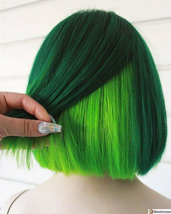 short green hair female