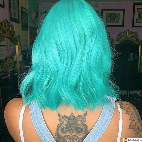 short green hair looks