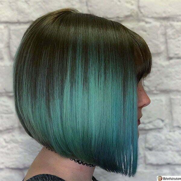 short green hair woman
