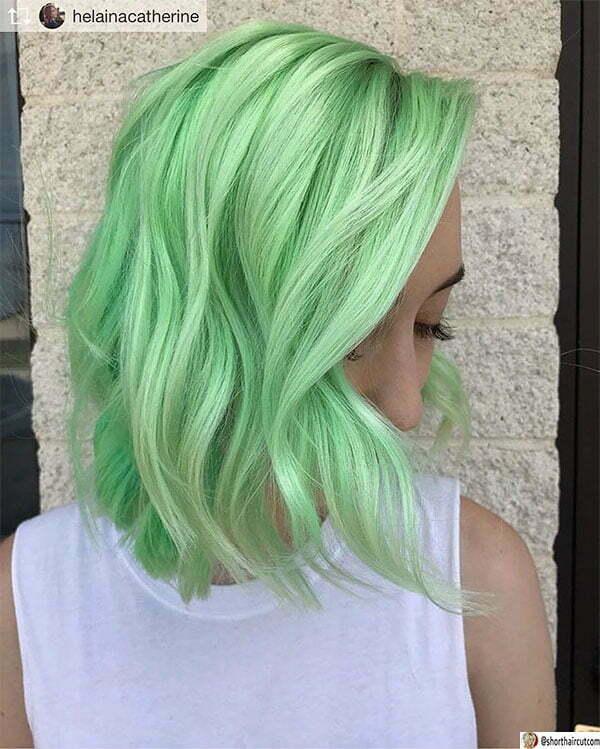 short green hair women