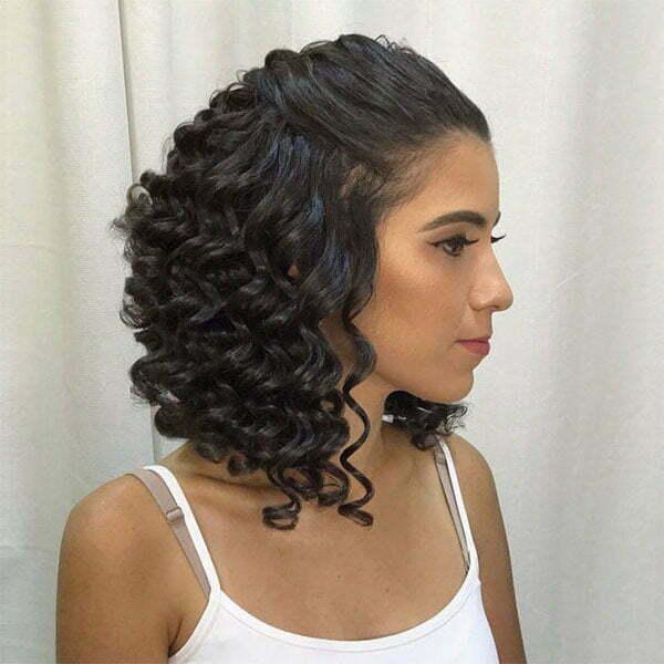 short hair and curls