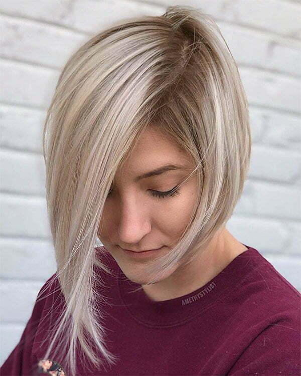 short hair blonde women