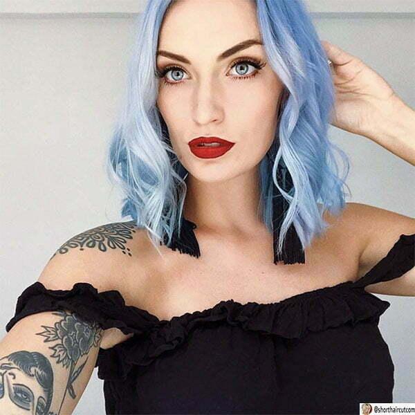 short hair blue hairstyles