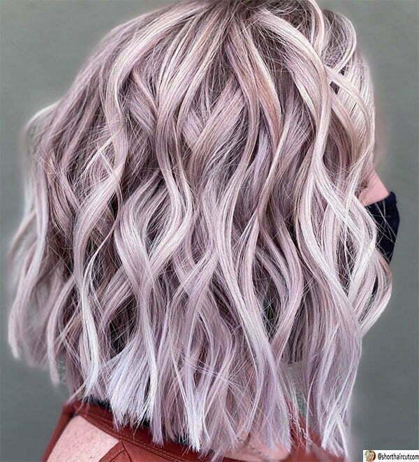 short hair cut purple