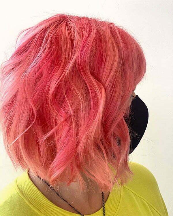short hair pink color ideas