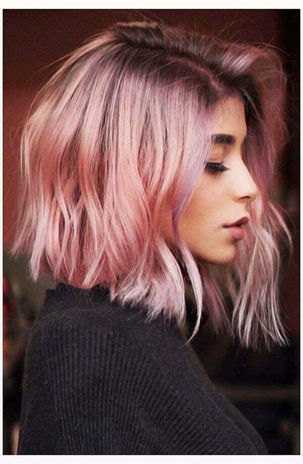 short hair pink hair