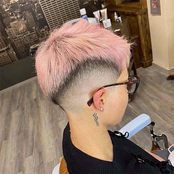 short hair pink pics