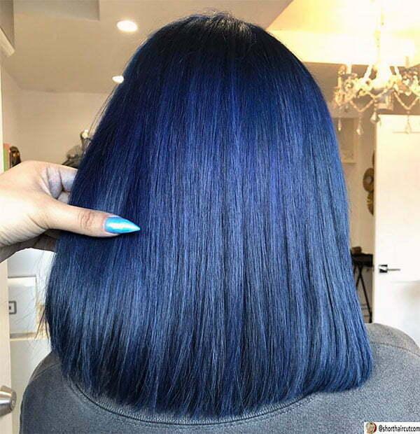 short hair styles blue