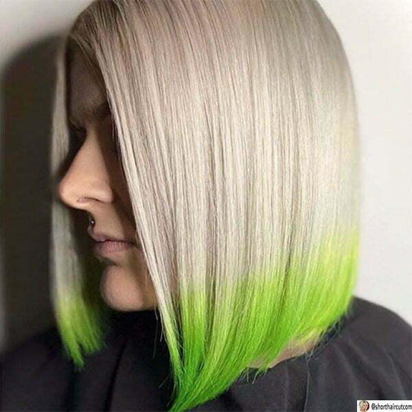 short hair styles green