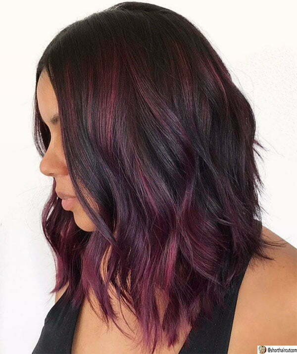 short hair styles purple