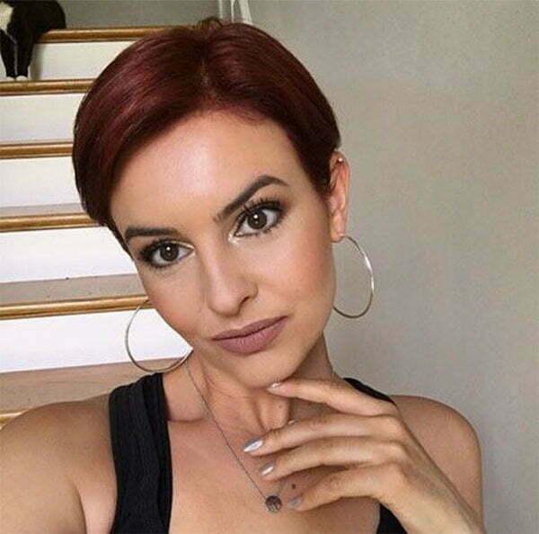 short hair styles red