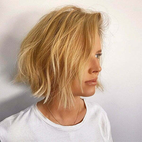 short hair with blond
