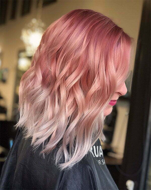 short hair with pink
