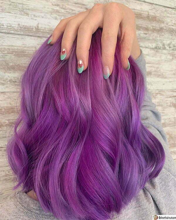 short haircut purple