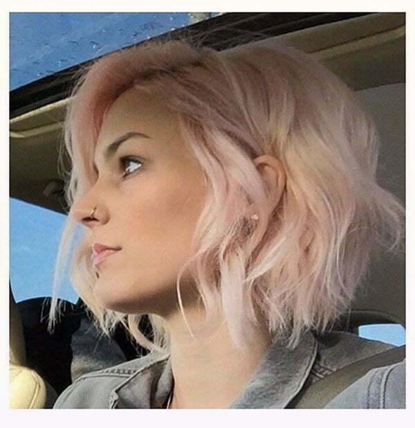 short haircuts pink hair