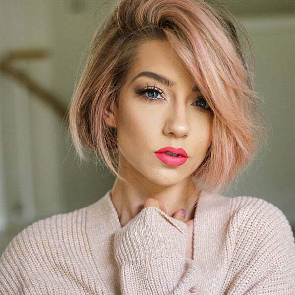short hairstyles for pink hair
