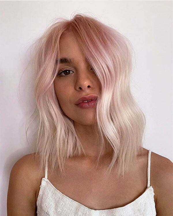short pink hair colors