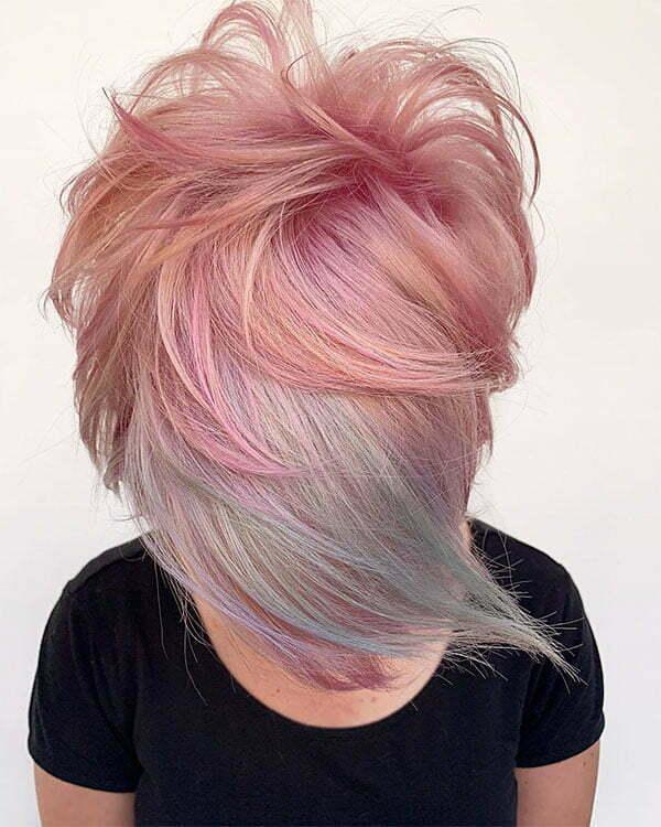 short pink hair ideas