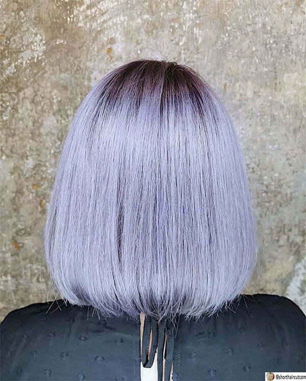 short purple cut