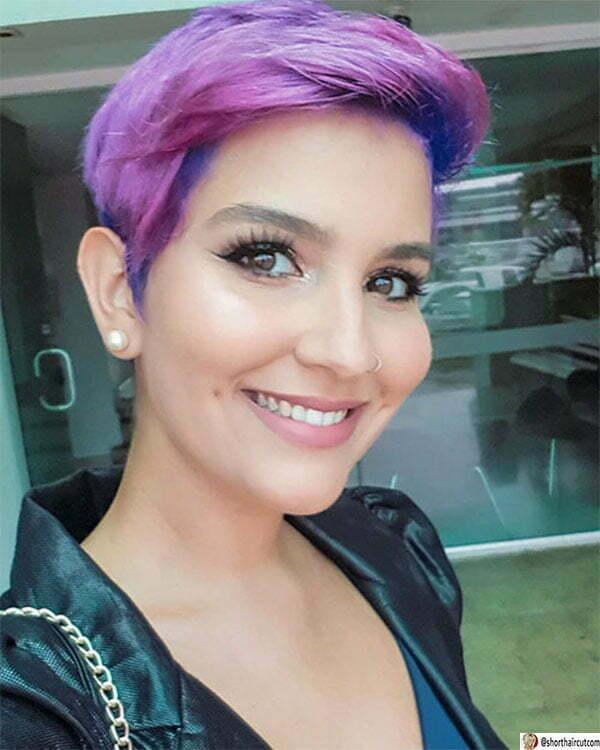short purple hair styles