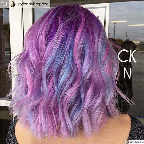 short purple hair women