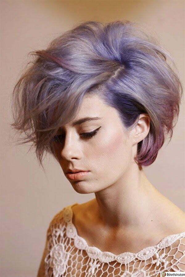 short purple haircuts