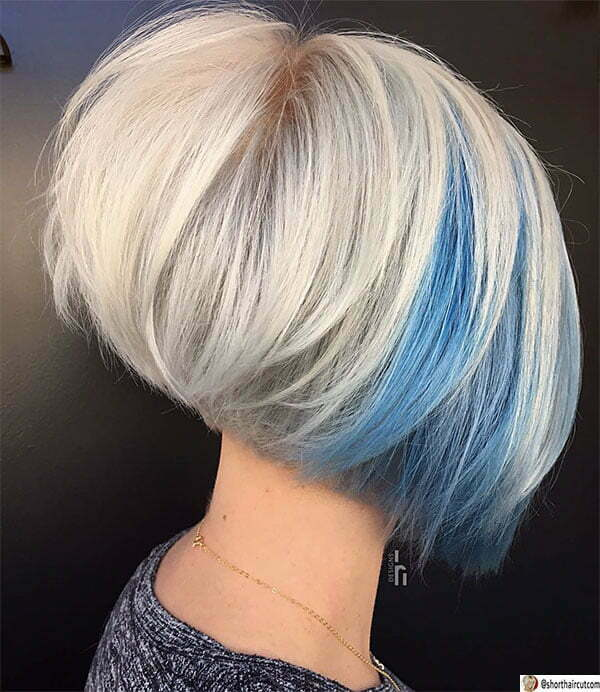 short short blue haircuts