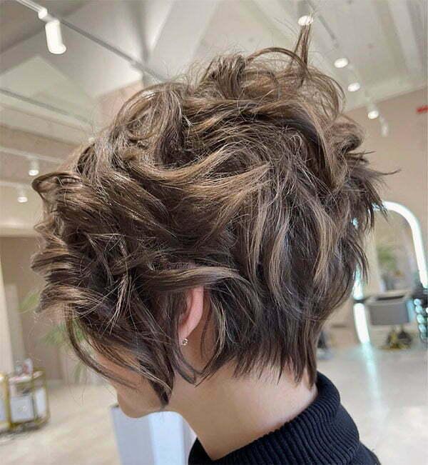 short short curly hair