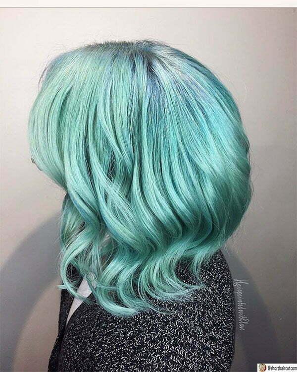 short short green haircuts