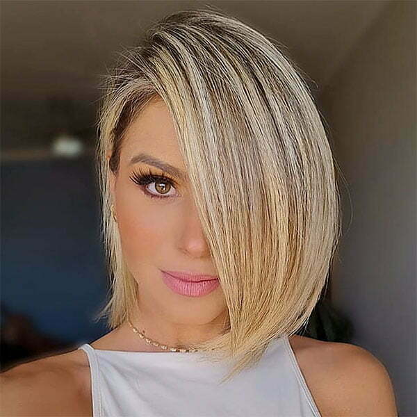 short straight hairstyles for women 2021