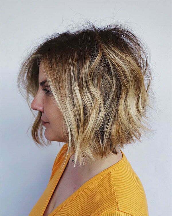 short wavy hair images 2021