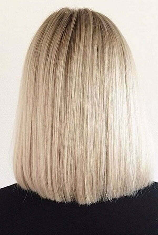 straight and short hairstyles
