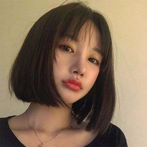 straightened short hair 2021